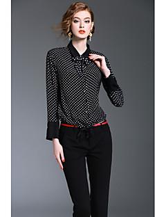 Majica Ženske,Jednostavan Slatko Ulični šik Izlasci Rad Print-Dugih rukava Kragna košulje-Proljeće Jesen Srednje Poliester