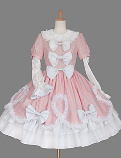 cheap Lolita Dresses-Sweet Lolita Dress Princess Women's Girls' One Piece Dress Cosplay Cap Short Sleeves Short / Mini