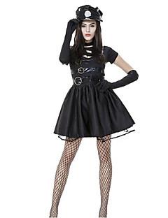 billige Halloweenkostymer-Politi Cosplay Kostumer karriere Kostymer Dame Halloween Karneval Nytt År Festival / høytid Halloween-kostymer Mote