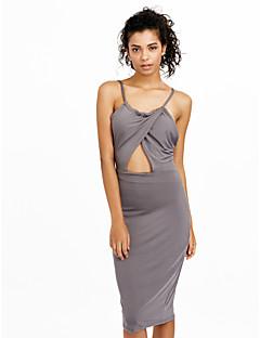 preiswerte Kleider-Damen Bodycon Hülle Kleid - Rückenfrei Gitter, Solide