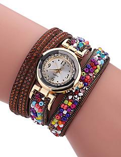 billige Armbåndsure-Dame Quartz Unik Creative Watch Armbåndsur Hot Salg PU Bånd Vedhæng Luksus Kreativ Afslappet Elegant Mode Sej Mangefarvet