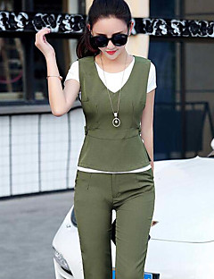 Women's Going out Daily Simple Summer Shirt Pant Suits