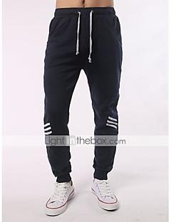billige Herrebukser og -shorts-Herre Gatemote Store størrelser Bomull Skinny / Jogger / Avslappet Bukser Fargeblokk / Sport
