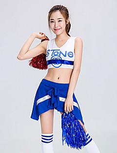 Skal vi cheerleader kostymer antrekk kvinners ytelse polyester mønster / print