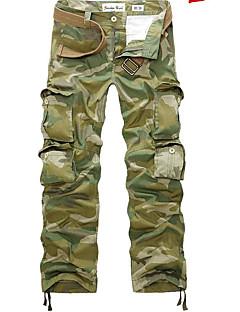 ieftine Get The Summer Look-Bărbați Punk & Gotic Larg / Pantaloni de marfă Pantaloni camuflaj