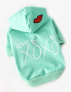 abordables -Chien Tee-shirt Vêtements pour Chien Respirable Mignon Décontracté / Quotidien Dessin-Animé Rose Vert clair Costume Pour les animaux