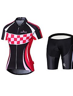 Sykkeljersey med bib-shorts Sykkel Jersey Fôrede shorts Sykkeltrøye + shorts Sykkeltrøye + shorts med selerPolyester 100% Polyester Mesh