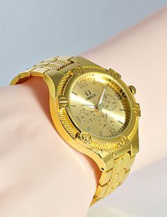 בגדי ריקוד גברים שעוני אופנה שעון יד ייחודי Creative צפה שעונים יום יומיים קווארץ מתכת אל חלד להקה מזל מגניב יום יומי יצירתי יוקרתי אלגנטי