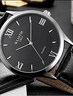 Pánské Módní hodinky Křemenný Kůže Kapela Běžné nošení Černá