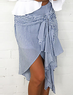 Ženske Slim Sexy Jednostavno Ulični šik Dnevno Izlasci Vjenčanje Asimetričan Suknje Mašna Klasika Sexy Moda Prugasti uzorak Proljeće Ljeto