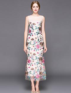 tanie SS 18 Trends-Damskie Wyrafinowany styl Szczupła Bodycon Sukienka - Haft, Modne Haftowane Midi