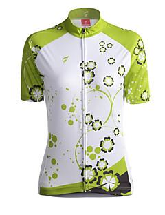 お買い得  サイクルウェア-GETMOVING サイクリングジャージー 女性用 半袖 バイク ジャージー トップス サイクルウェア 高通気性 後ポケット サンスクリーン クラシック サイクリング / バイク グリーン