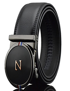 cheap Accessories' New Ins-Men's Party Work Casual Leather Alloy Waist Belt - Solid, Pure Color
