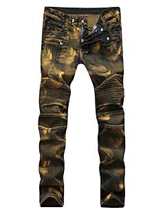 billige Herrebukser og -shorts-Herre Store størrelser Tynn Løstsittende Tynn Jeans Avslappet Bukser - Trykt mønster Blandet Farge, Ensfarget