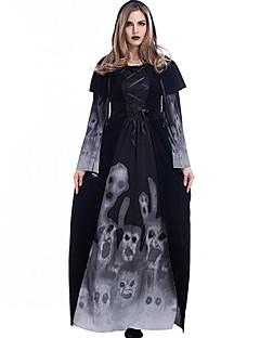 Trollmann/heks Spøkelse Vampyrer Cosplay Kostumer Dame Halloween Jul Karneval Nytt År De dødes dag Festival/høytid Halloween-kostymer