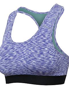 billiga Träning-, jogging- och yogakläder-Brottarrygg Sportbehåar Vadderad Medium stöd för Yoga / Löpning - Grön / Blå / Violet t Anti-Skakning, Andningsfunktion, Stötsäker Dam