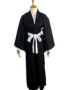 billige Anime cosplay-Cosplay Klær / Cosplay Topper / Underdele / Japansk Kimono Inspirert av Dead Rukia Kuchiki Anime Cosplay-tilbehør Topp / Bukser / Belte polyester / Terylene Unisex ny / Varmt Halloween-kostymer
