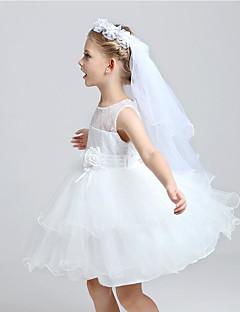 Πέπλα Γάμου Δύο-βαθμίδων Πέπλα Θείας Κοινωνίας Χωρίς τελείωμα Τούλι
