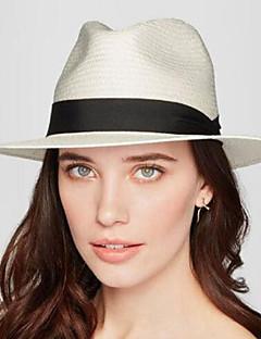 Dámské Klobouk Vintage Klasické & nadčasové Jaro Léto Sluneční klobouk,Jednolitý Podšívka Mikrovlákno Čistá barva