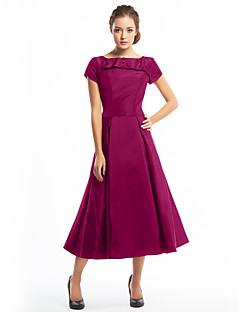 billiga Den lilla svarta-A-linje Båthals Telång Taft Den lilla svarta Cocktailfest Klänning med Knappar av TS Couture®