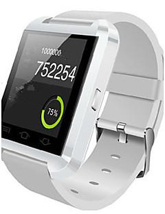 Damen Herrn Smart Uhr digital Caucho Band Schwarz Weiß Rot