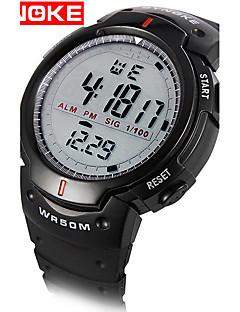 billige Digitalure-Herre Quartz Digital Digital Watch Armbåndsur Smartur Militærur Sportsur Kinesisk Alarm Kalender Vandafvisende LED Stor urskive