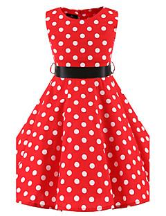 Mädchen Kleid Punkte Baumwolle Ganzjährig Ärmellos