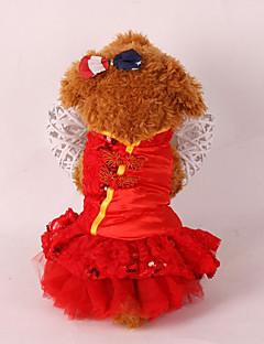 犬 タキシード 犬用ウェア 結婚式 新年 スパンコール レッド ピンク コスチューム ペット用