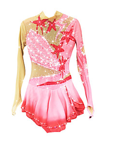 cheap Ice Skating Dresses , Pants & Jackets-Figure Skating Dress Women's / Girls' Ice Skating Dress Pale Pink Spandex Rhinestone / Appliques High Elasticity Performance Skating Wear