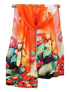 Women's Chiffon Fashion Cute Orange/Pink/Fuchsia/Blue/Yellow Spring Summer Fall Winter All Seasons Scarf