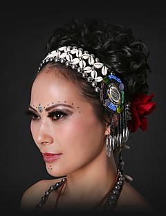 ベリーダンス ヘッドピース 女性用 ダンスパフォーマンス シェル スパンコール ヒトデと貝殻 1個 ホリデー 妖精 ボヘミアンスタイル > ヘッドピース