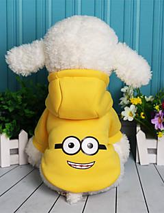 billiga Hundkläder-Hund Tröja Hundkläder Tecknat Purpur Gul Röd Blå Skinna Cotton Kostym För husdjur Ledigt/vardag