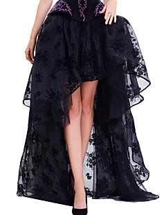 Damen Vintage Einfach Street Schick Ausgehen Lässig/Alltäglich Asymmetrisch Röcke Schaukel,Blumig Blumen Ganzjährig