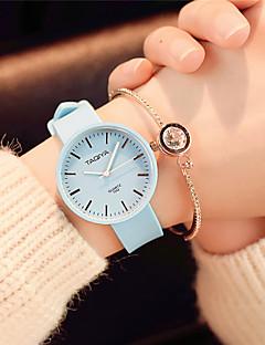 Damen Modeuhr Armbanduhr Chinesisch Quartz Silikon Band Süßigkeit Bequem Elegante Minimalistisch Schwarz Weiß Grün Rosa Marinenblau