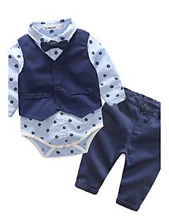 billige Tøjsæt til drenge-Drenge Tøjsæt Geometrisk, Bomuld Forår Efterår Langærmet Pænt tøj Blå