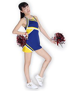 Cheerleader-asut Hameet Naisten Suoritus Neuleet Liitos 1 Kappale Hihaton Korkea Mekot