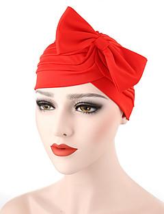 Feminino Chapéu Flor Algodão Primavera/Outono Verão Floppy,Sólido Laço Vermelho Rosa Cinzento Escuro Azul Marinha Azul Real