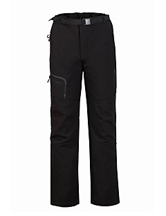 Men's Softshell Pants Thermal / Warm Windproof Fleece Lining Rain-Proof Wearable Breathable Comfortable Bottoms for Hunting Fishing
