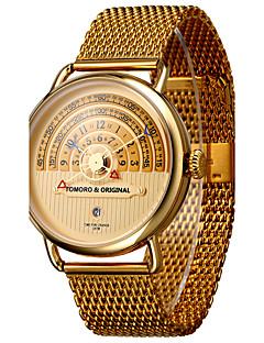 Erkek Benzersiz Yaratıcı İzle Gündelik Saatler Spor Saat Asker Saat Elbise Saat Moda Saat Bilek Saati Bilezik Saat Japonca Quartz Takvim