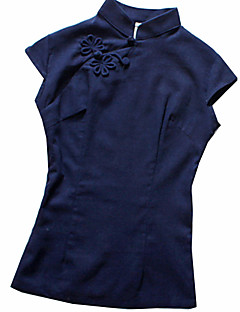 Bluse/Skjorte Klassisk og Traditionel Lolita Vintage Inspireret Cosplay Lolita Kjoler Trykt mønster Vintage Lolita Top Til Lærred Bomuld