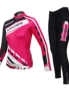 cheap Cycling Jersey & Shorts / Pants Sets-ILPALADINO Cycling Jersey with Tights Women's Unisex Long Sleeves Bike Tights Clothing Suits Waterproof Quick Dry Windproof Insulated