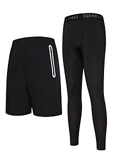 Men's Running Pants Quick Dry Running Compression Bottoms for Running/Jogging Exercise & Fitness Basketball Tight Black
