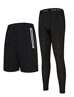 Heren Hardloopbroeken Sneldrogend Hardlopen Compressie Kleding Onderlichaam voor Hardlopen Training&Fitness Basketbal Strak Zwart