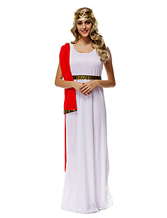 cheap -Fairytale Roman Costumes Athena Cosplay Costume Party Costume Women's Halloween Carnival Festival / Holiday Halloween Costumes Red and