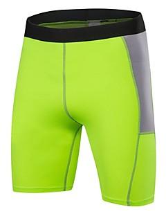 Herrn Kurze enge Laufhosen Fitness, Laufen & Yoga Schnell trocken Anatomisches Design Atmungsaktiv Leicht Sport Shorts/Laufshorts Unten