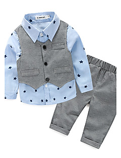 Boys' Galaxy Clothing Set,Cotton Polyester Spring Fall Blue Light Green