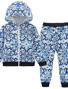 Jungen Sets Druck Baumwolle Polyester Frühling Herbst Lange Ärmel Kleidungs Set