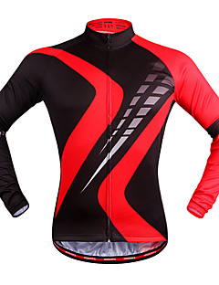 83553ae28 WOSAWE Unisex Long Sleeve Cycling Jersey - Red black Plaid   Checkered Bike  Jersey Top Quick Dry Sports Polyester Mountain Bike MTB Road Bike Cycling  ...