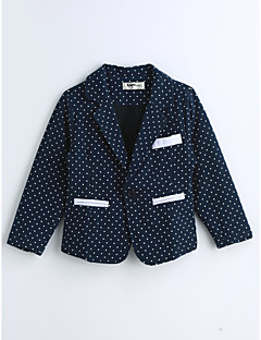 Boys' Polka Dot Suit & Blazer,Cotton Spring Fall Long Sleeve Blue