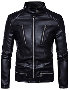 Men's Casual/Daily Casual Winter Fall Leather Jacket